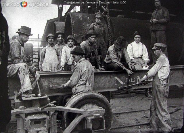 Trabajadoresde Ferrocarriles Nacionales. Ciudad de México (c. 1930).