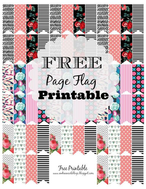 FREE Printable Page Flags Via AndreaNicoleBlogs #Planner #freeprintable #planner