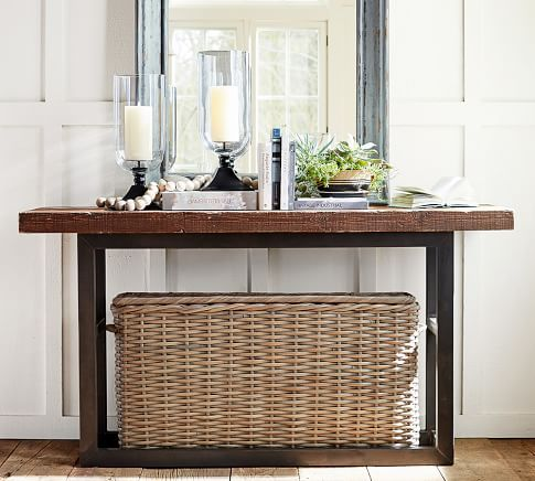Consolle E Divani Pottery Barn · Reclaimed Wood Coffee TableRound ...