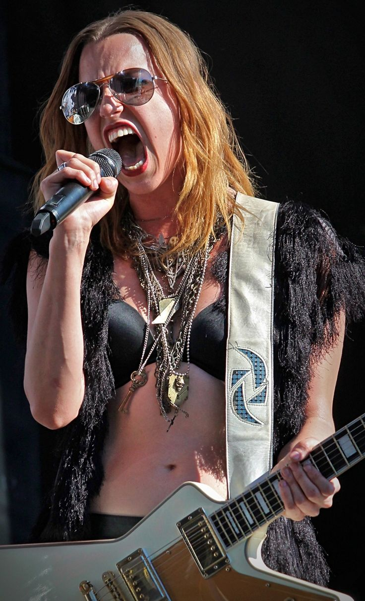Lzzy Hale (Halestorm) She's a rockstar.