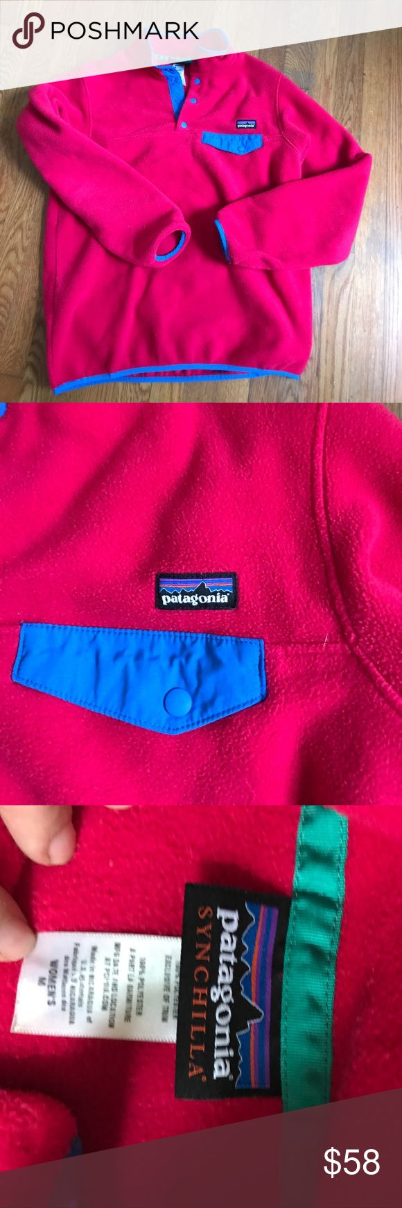 FALL 🎃👻Patagonia Synchilla pullover Fall is here! Buy from my closet much cheaper than in the stores! Excellent condition women's medium 💯 % polyester Patagonia fleece. Pull over. Patagonia Jackets & Coats