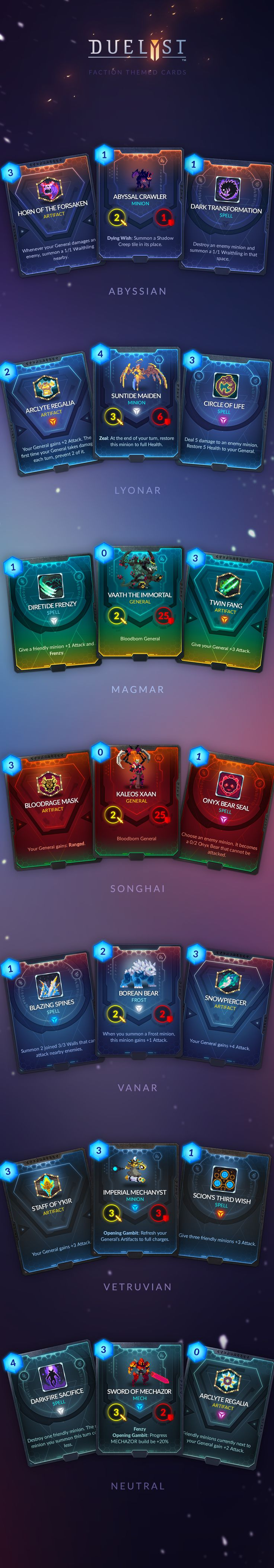 Duelyst Cards on Behance