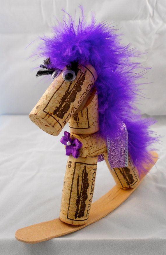 Wine Cork Rocking Horses by melodyelize on Etsy,
