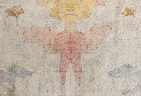 NOVÁK LADISLAV (1925–1999)  Sun Daemon with Heavenly Dogs and Stars, 1969