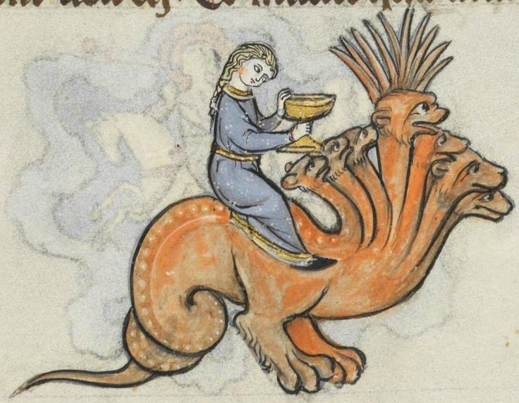 discardingimages: Whore of Babylon Biblia Porta, France 13th century. Bibliothèque cantonale et universitaire