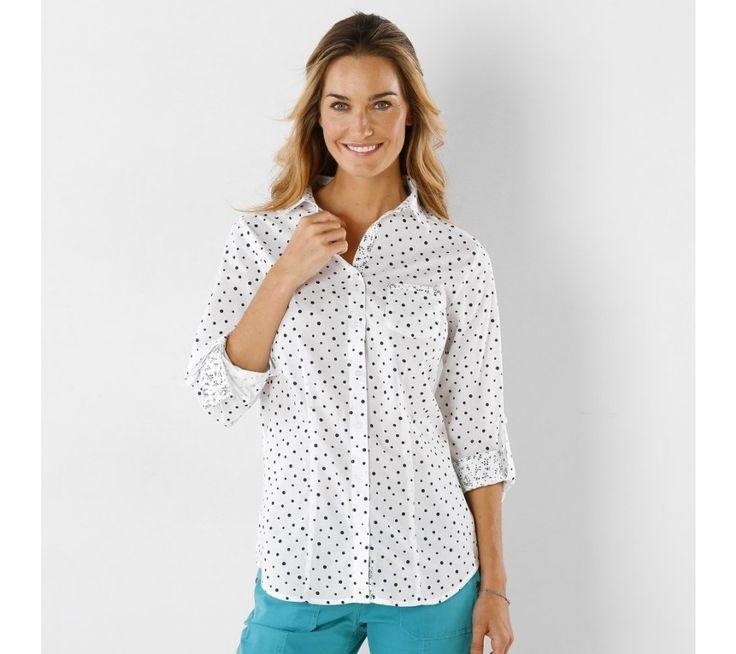 Košile s potiskem puntíků | blancheporte.cz #blancheporte #blancheporteSK #blancheporte_sk #novakolekce #jaro #leto