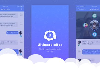 "Check out this @Behance project: ""Ultimate InBox - messaging app""…"