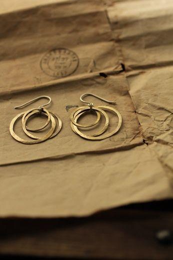 Brass 3 Hoop Earrings - IRRE