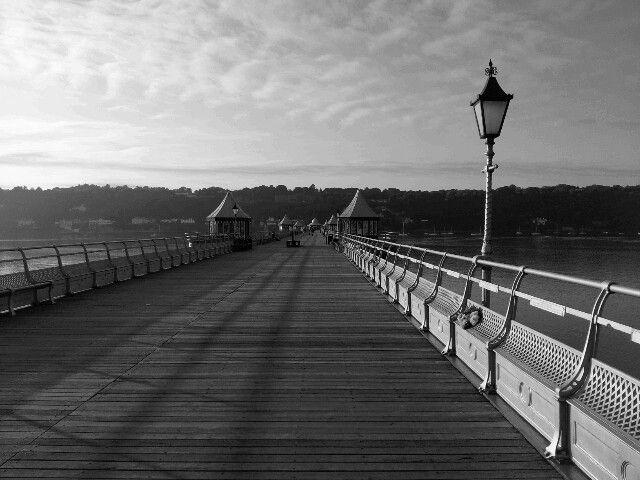 The length of Bangor Pier.