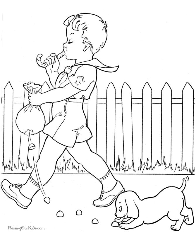 Fun coloring book pages