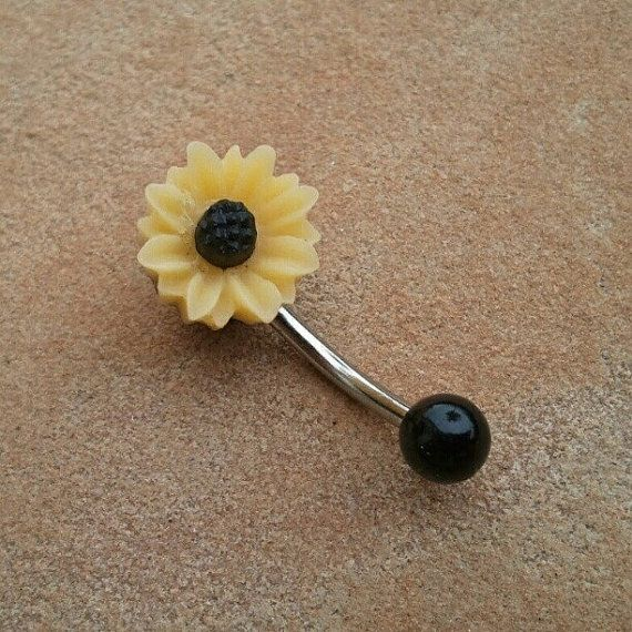 Hey, I found this really awesome Etsy listing at https://www.etsy.com/listing/121079621/sunflower-belly-button-jewelry-stud-ring