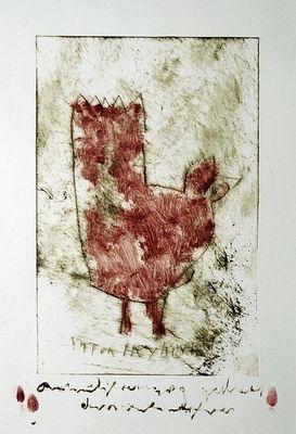 Mooie grote ets van Anton Heyboer. Het formaat van de ets zelf (zonder tekst er onder) is al 30 x 46 cm, maar de binnenmaat van het passe-partout is (vanwege de tekst en de duimafdrukken) zelfs 40 x 60 cm. De ets is al mooi ingelijst (maat lijst 62 x 84 cm). Wordt zonder glasplaat verzonden.