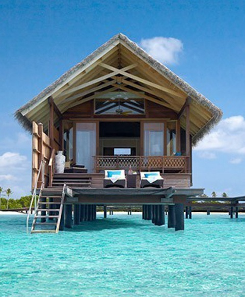 These Ocean Huts In Bora Bora Bring You Right Into