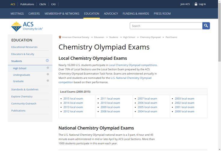 AP Chem Q's: Chemistry Olympiad Exams - American Chemical Society