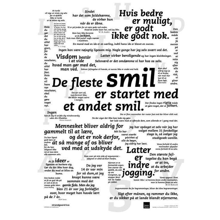 Plakat med mange citater