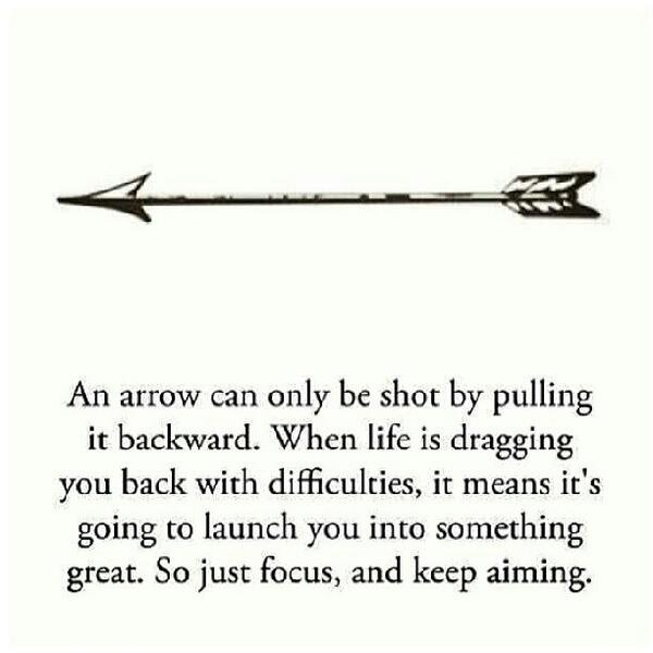 Love this.  I wish there was a more creative arrow that could be a tattoo behind my ear.  I don't think a straight arrow would look right. :/