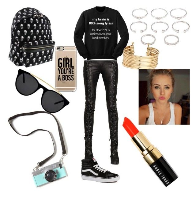 """""""i got one less one less problem"""" by cutegirl1001 ❤ liked on Polyvore featuring A.F. Vandevorst, Vans, Yves Saint Laurent, Casetify, Smoke & Mirrors, Forever 21, H&M and Bobbi Brown Cosmetics"""