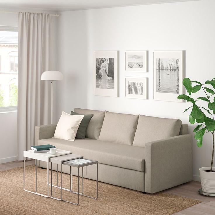 Friheten Sleeper Sofa Hyllie Beige, Beige Sofa Bed With Storage
