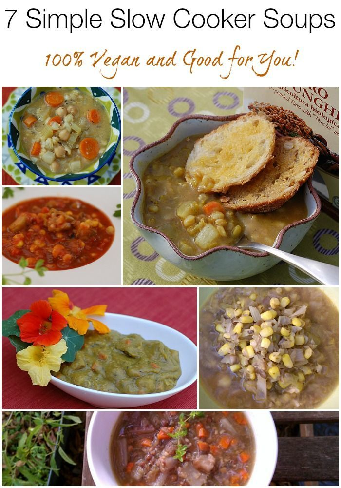 7 Simple Slow Cooker Soups to warm up these cold nights! | HealthySlowCooking.com