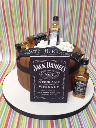 Image result for alcohol themed birthday cakes for men