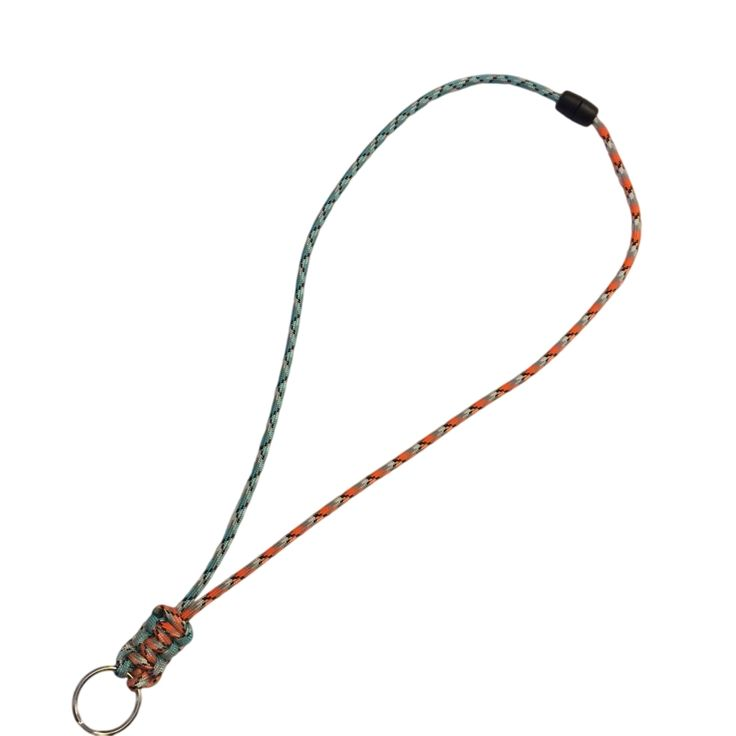Make a Paracord Lanyard to hold your ID badge. A lanyard made of paracord will last a long time, and is very durable. You can pick from hundreds of colors of paracord. You can also add a Tracer, which is a piece of micro paracord braided in. The Paracord Supplies you will need is 2 feet of 550 Paracord, a keyring or clip, and a release. Plus some scissors and a lighter. Full Paracord Lanyard instructions, Learn how to make a Paracord Bracelet, Paracord Keychain, or other Paracord Projects.