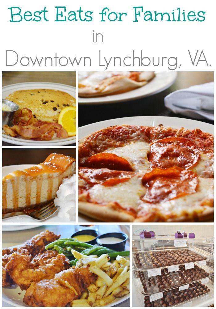 Best family friendly restaurants in downtown Lynchburg, VA. #travel #familytravel #70dayroadtrip
