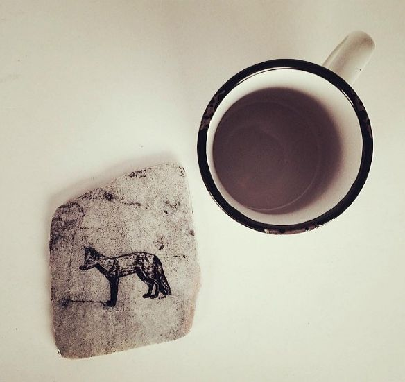 Coffee & Coaster   Handmade - Natural Stone