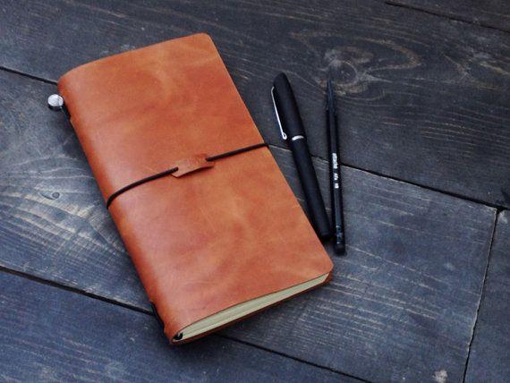 Кожаный блокнот / Cменныe тетради / 21х12см / Travellers Notebook /