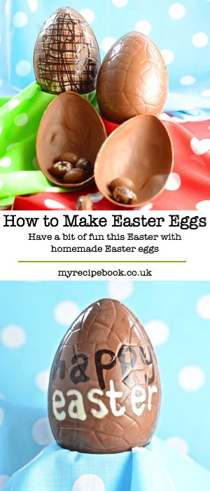 A step-by-step guide to making Easter eggs at home. Gluten free.