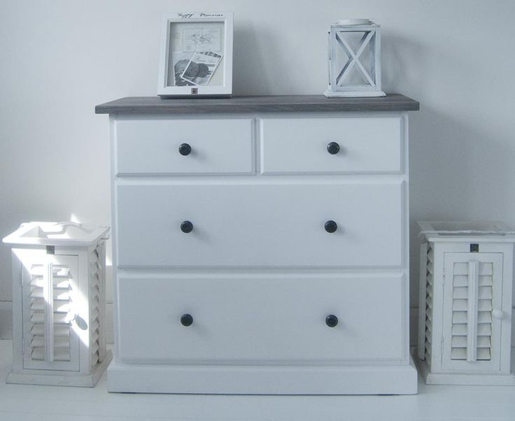 Cape Cod Chest Of Drawers With Grey Top · White Bedroom ...