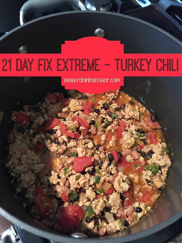 21 Day Fix Extreme Turkey Chili - Fit mom recipes. For more recipes visit: www.robinbonswor.com Eat clean. YUM! Meal planning. Healthy family.