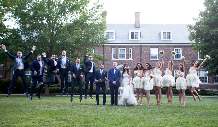 St. Andrew's College wedding party fun!