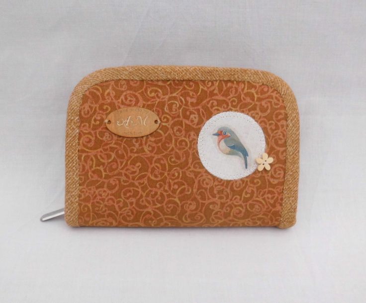 Purse Pocket with Robin