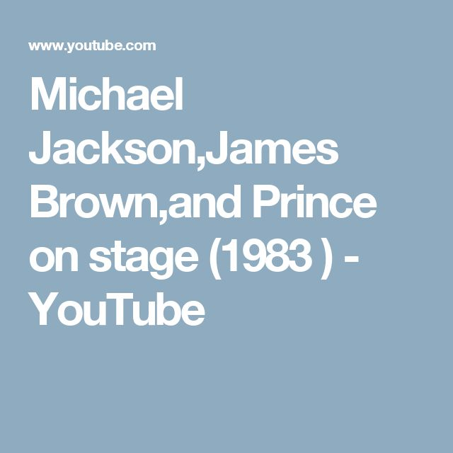 Michael Jackson,James Brown,and Prince on stage (1983 ) - YouTube