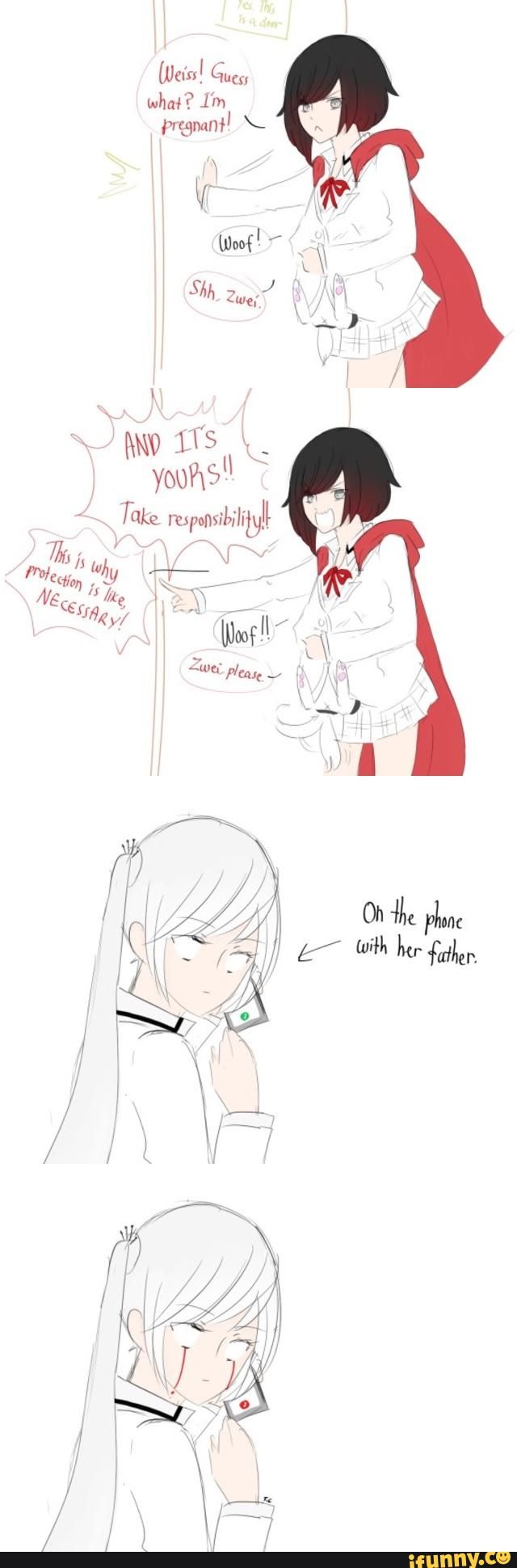 """rwby, whiterose Meanwhile in Atlas, Nicholas is looking out the window with a frown. """"No one can know that Weiss has man parts. Execute Order 66."""