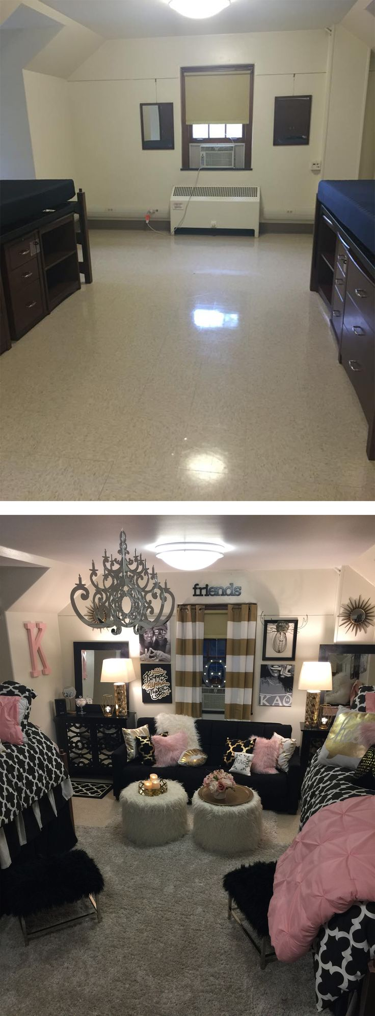 Before and After. Miami University MacCracken Hall.