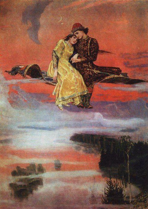 """Flying Carpet"" Viktor Vasnetsov. 1926"