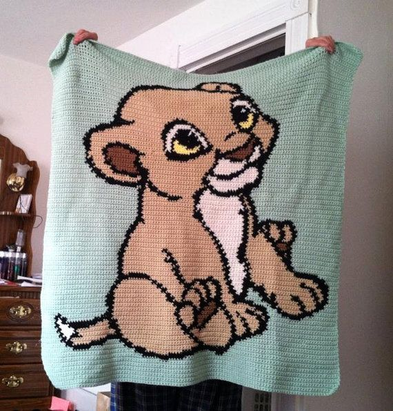 Baby Simba Afghan By Daniellescrocheting On Etsy 105 00