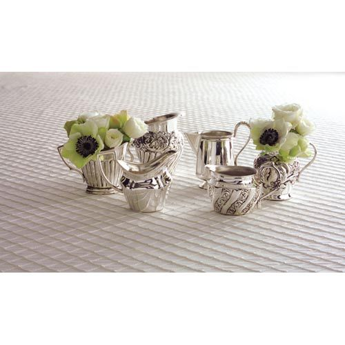 Essex™ Silver Plated Brass Creamers, Set Of Six Two's Company Specialty Serveware Servewa