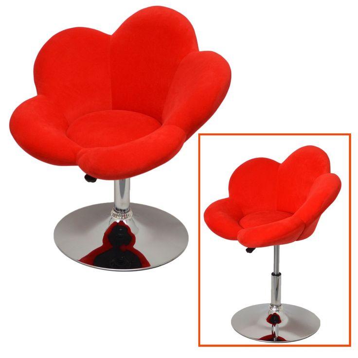 """1x tabouret de bar """"fleur rouge"""" chaise Chaise longue design Chaise de bar pivotante D0: Amazon.fr: Cuisine & Maison"""