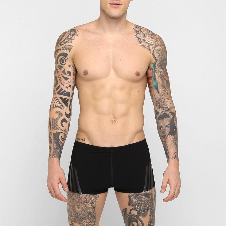 Sunga Adidas Boxer Inf Sl Preto e Cinza | Netshoes