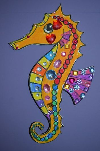 Free download, create a sparkling seahorse