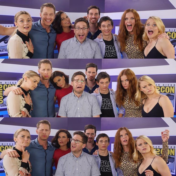joshuahorowitz: Happy/Sad/Confused. With Jennifer Morrison & Josh Dallas & Lana Parrilla & Colin O'Donoghue & Jared Gilmore & Rebecca Mader & Emilie de Ravin. #ouat #sdcc Photo: @yopanda