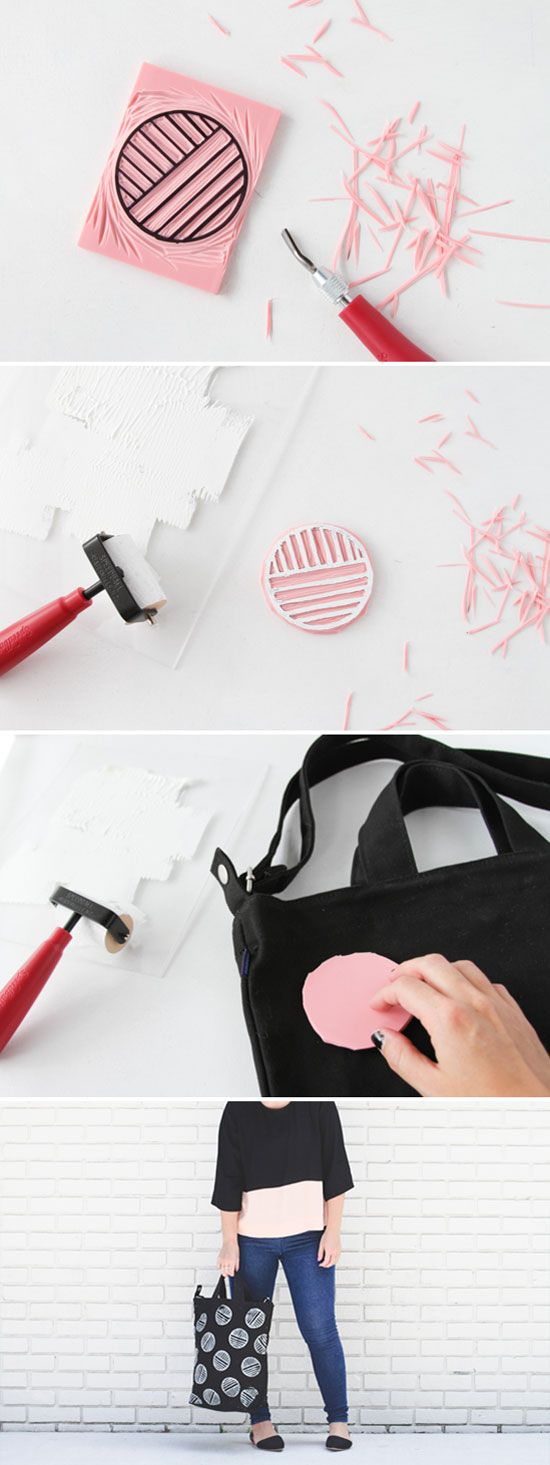 How To Make a Custom Stamped Tote Bag - Paper & Stitch