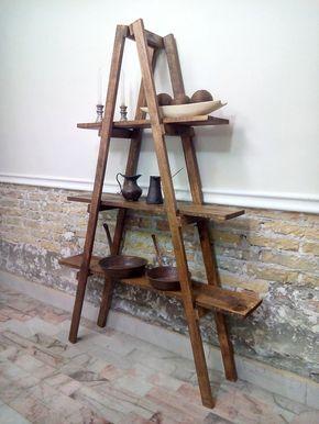 Escalera decorativa rustica con 3 repisas a8b171ee8745