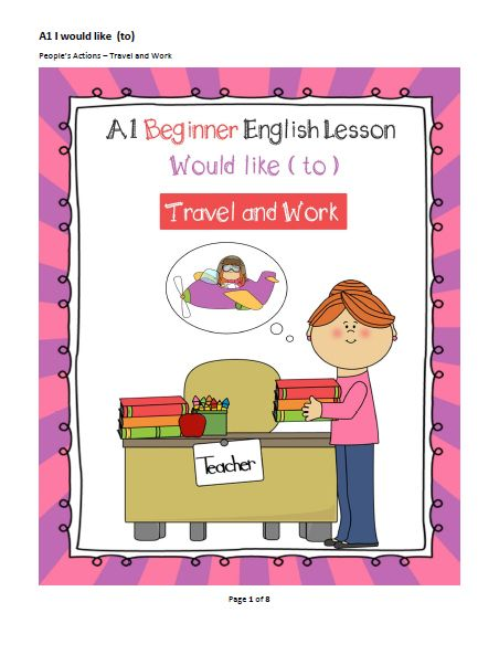 A1 Beginner English Lesson – Would Like To – Travel and Work   English WorkShop   English Lessons and Lesson plans for ESL teachers