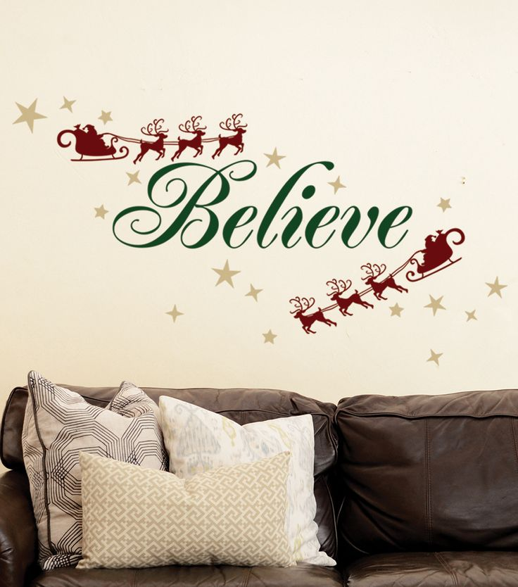 Dcwv Home Wall Decor : Dcwv home christmas wall decal believe decor