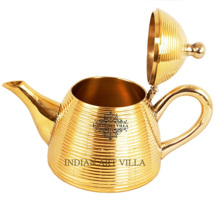 Designer Brass Tea Pot Kettle 500 ML - Serving Tea Coffee Tableware Home Hotel Restaurant