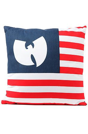 Wutang Brand Limited  The Wu America Pillow in Red, White, and Blue