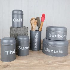 French grey kitchen accessories
